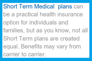 Short Term Medical Plans are Health Insurance